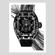 Richard Mille Original Illustration